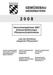 Einlegegurken gestachelt (parth.), Vliesverfrühung - Amt für ...