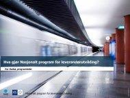 Hva gjør Nasjonalt program for leverandørutvikling? - Innomed
