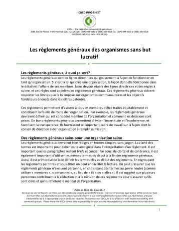 Règlements généraux-2012-FR PDF - COCo