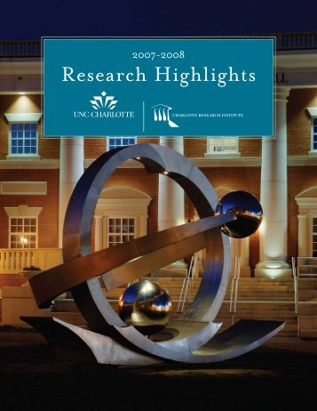 Annual Report 2007-2008 - Charlotte Research Institute - University ...