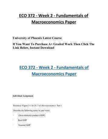 Macroeconomics paper need help.?