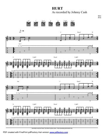 """Hurt"" (PDF) - Guitar Alliance"