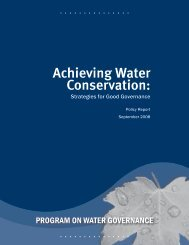 Achieving Water Conservation: Strategies for Good Governance