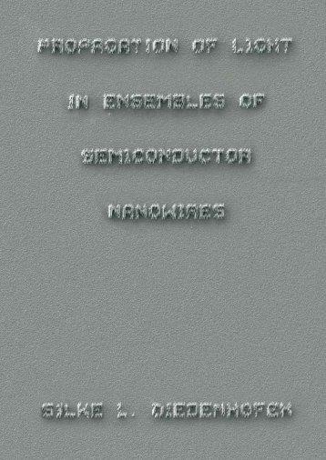 Propagation of Light in Ensembles of Semiconductor Nanowires - TU/e
