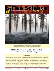 FOFEM: The First-Order Fire Effects Model Adapts to the 21st Century