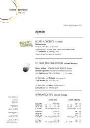 Rundbrief November 2010 - Cantina del Mulino
