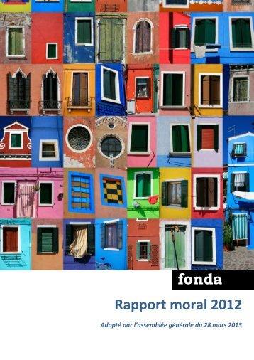 rapport d'activité 2012 - Fonda