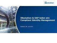 Compliant Identity Management - IBSolution Veranstaltungen