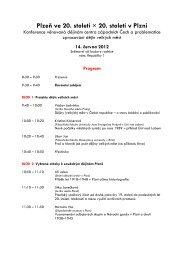 Program konference - Archiv města Plzně