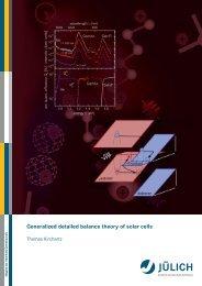 Generalized detailed balance theory of solar cells - JUWEL ...