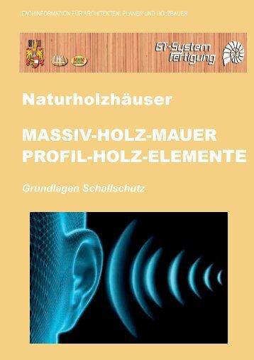 Informationen zum Schallschutz (PDF)