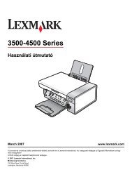 Felhasználói kézikönyv - Lexmark