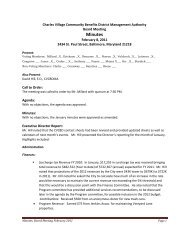 Minutes 02 08 2011 - Charles Village Community Benefits District