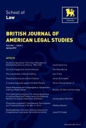 british journal of american legal studies - Birmingham City University