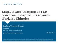 Enquête Anti-dumping de l'UE concernant les produits ... - AFASE