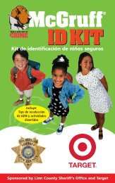 Kit de identificación de niños seguros - McGruff the Crime Dog