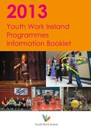 Download Programme Information Booklet - Youth Work Ireland