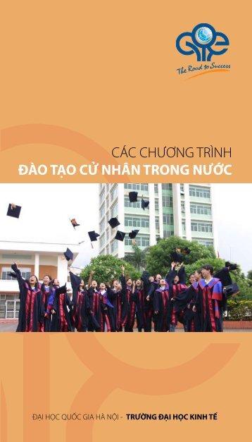 các chương trình đào tạo cử nhân trong nước - Trường Đại học Kinh ...