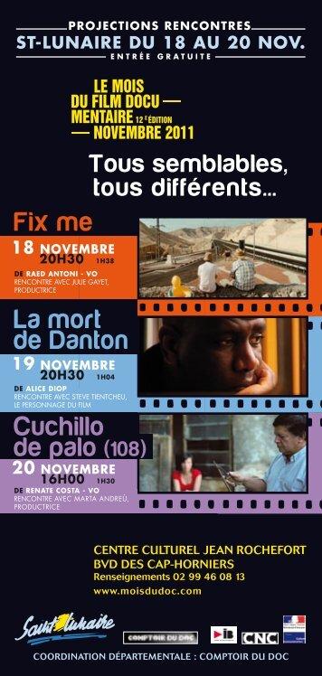 LE MOIS DU FILM DOCU MENTAIRE NOVEMBRE 2011
