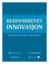 10 steg til innovasjon i helsesektoren - Innomed