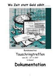 Bundestreffen 1997 - Das Tauschring Archiv