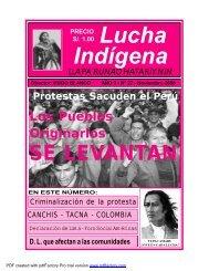 Lucha Indígena No. 27 PDF - Centro de Documentación Ñuke Mapu