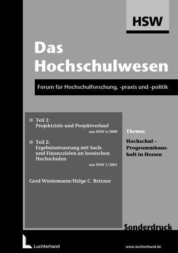 Hochschul-Programmhaushalt in Hessen - arf Gesellschaft für ...
