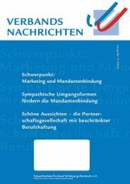 Ausgabe 2/2012 - Steuerberaterverband Schleswig-Holstein