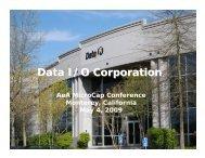 Data I/O Corporation