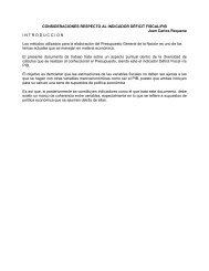 CONSIDERACIONES RESPECTO AL INDICADOR DÉFICIT FISCAL ...