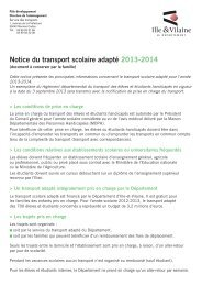 Notice du transport scolaire adapté 2013-2014