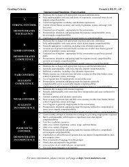 Interpersonal Speaking and Presentational Writing Criteria