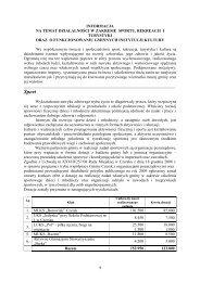 informacja - sport,kultura i turystyka 2009 - Urząd Miejski w Czersku