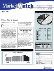 Prices Rise In March Inside - Toronto Real Estate Board