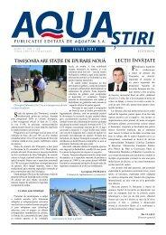 AQUA Ştiri nr. 7 (23) / iulie 2011 - Aquatim