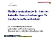 Medikamentenhandel im Internet: Aktuelle Herausforderungen für ...