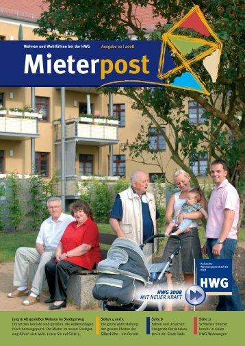 Mieterpost 02/2008 - HWG Hallesche Wohnungsgesellschaft mbH