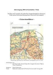 - Exkursionsführer - - Arbeitsgemeinschaft Forstliche Standorts