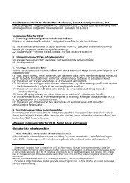Resultatlønskontrakt 2011 - Sankt Annæ Gymnasium