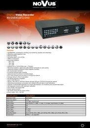 Digital Video Recorder NV-DVR4516(S)/DVD