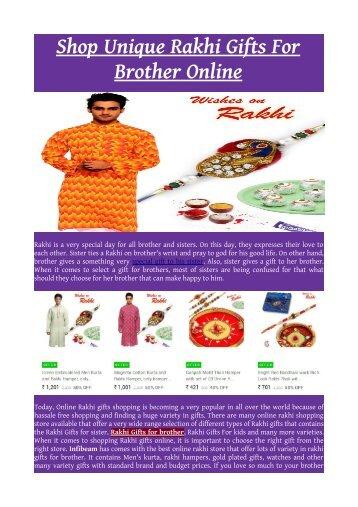 Shop Unique Rakhi Gifts For Brother Online.pdf
