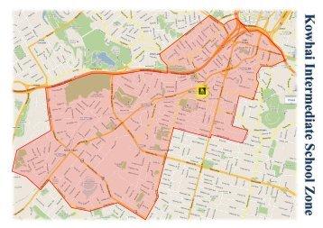 School Zone Map - Kowhai Intermediate School