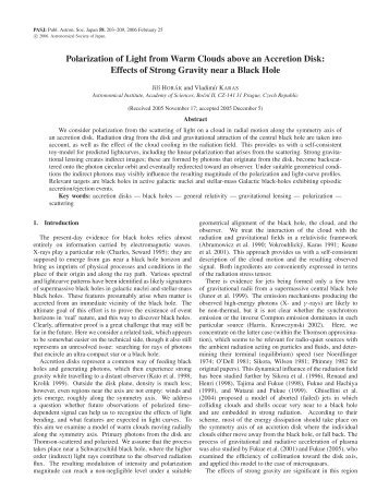 Effects of Strong Gravity near a Black Hole - Prague Relativistic ...