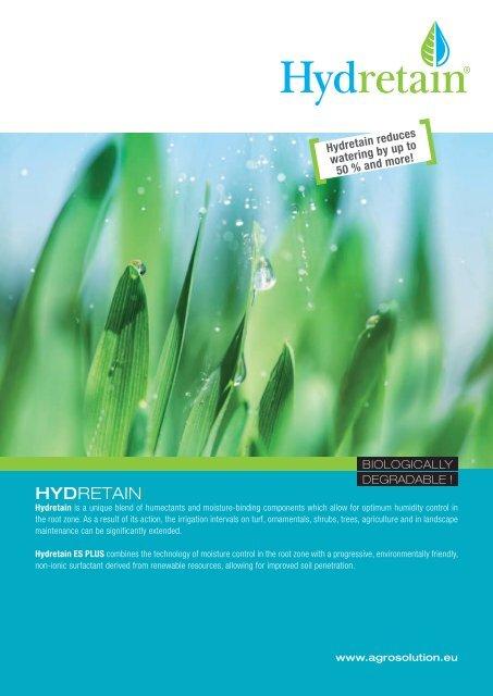 HYDRETAIN Brochure english - AGROsolution