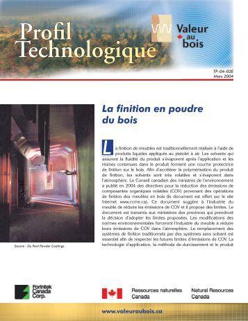Technologique Profil - Programme Valeur au Bois