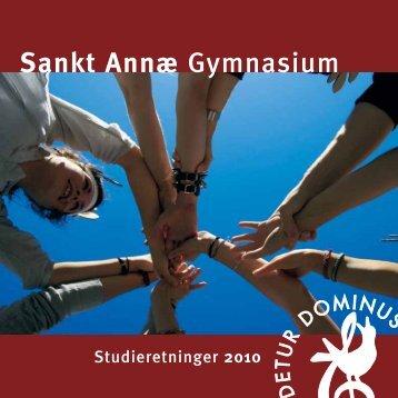 fag og niveau - Sankt Annæ Gymnasium