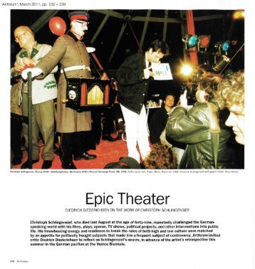 Epic Theater - Hauser & Wirth