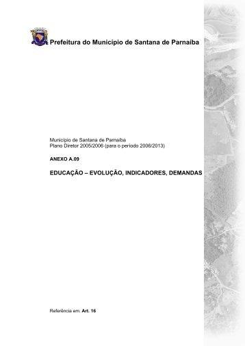 SANTANA DE PARNAÍBA – PLANO DIRETOR 2005