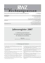 Jahresregister 2007 - LexisNexis — RWZ — Zeitschrift für Recht und ...