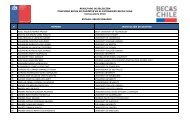 Nómina de seleccionados 2013 - Conicyt